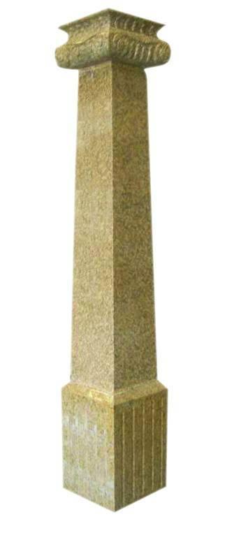 Ea5013 G682 Beige Granite Columns, Marble Columns