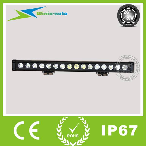 26 80W Single Row Cree LED Aluminum Panel Light Bar LED Panel Spot Beam 6000Lumen WI9015-80
