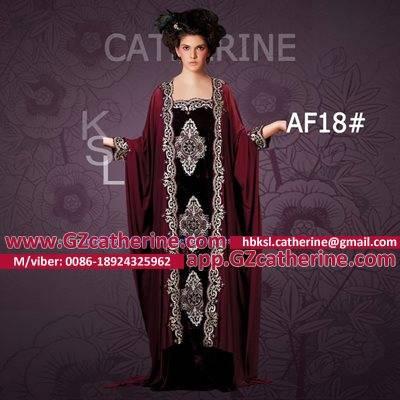 Maroon Velvet Embroidery Butterfly Maxi Ankara Kaftan Gowns