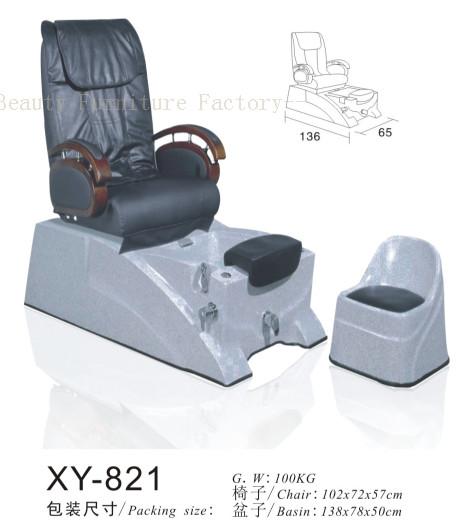 Salon Spa Pedicure Chair Fibreglass Sink XY-89111
