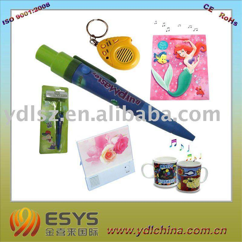 Music recording keychain with good recording chip, ideal choice for festival or promotional gifts. W