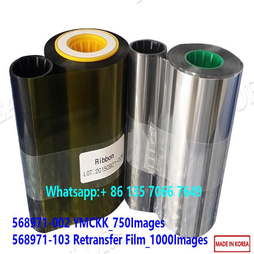 Compatible 568971-002 YMCKK &568971-103 Reteransfer Film Datacard SR200 SR300 RP90
