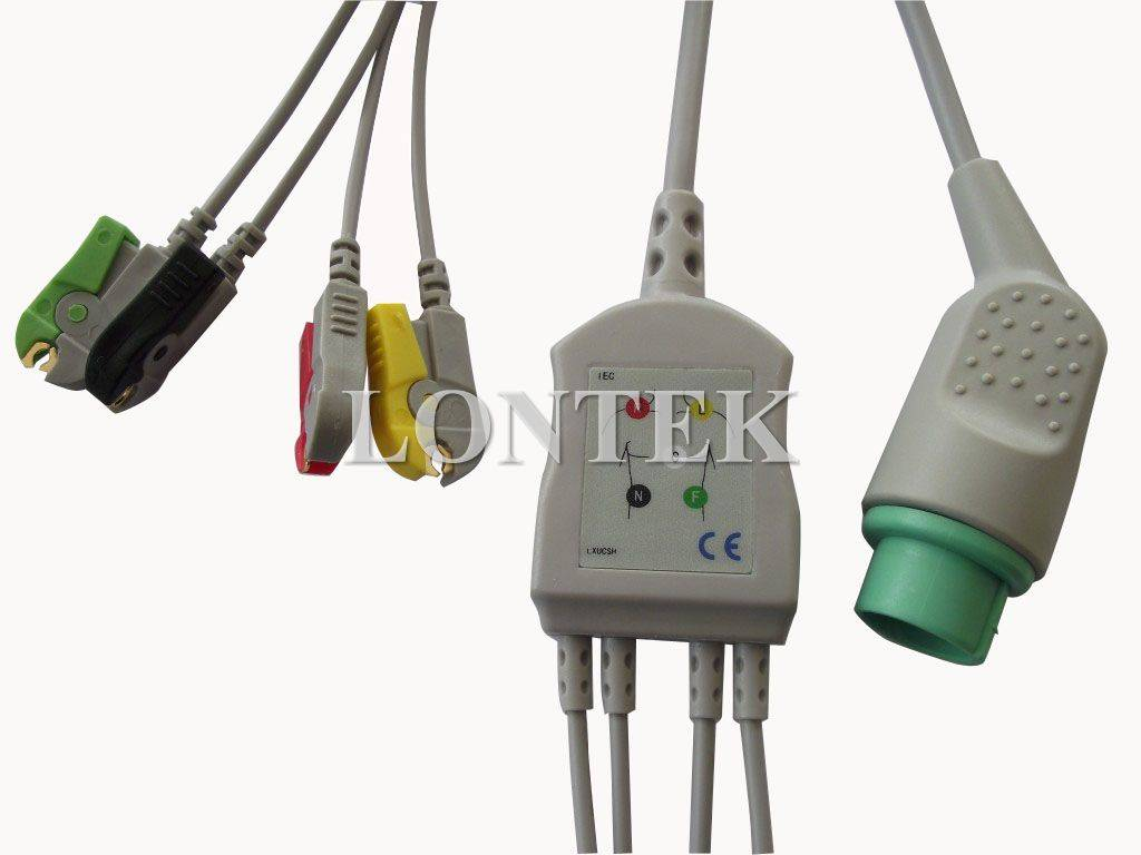 Bruker ECG cable with 3 leadwires