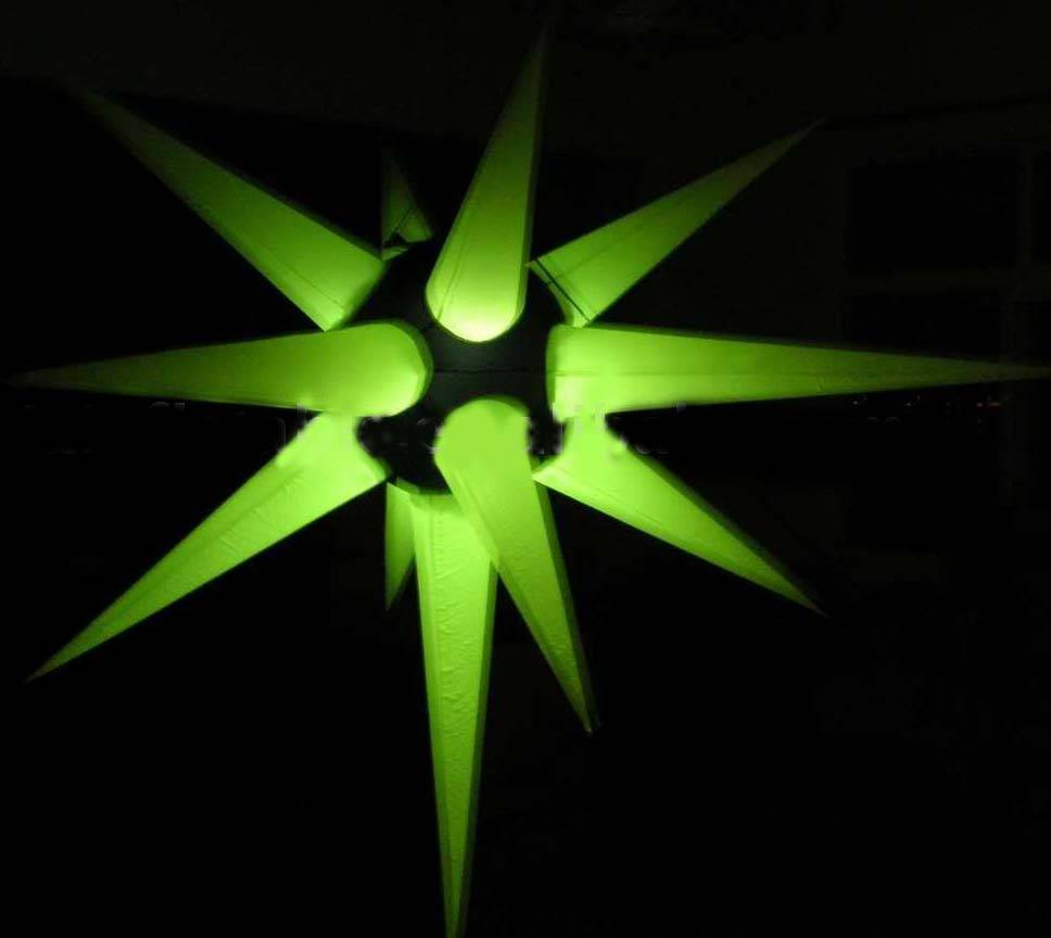 inflatable star decorations with LED lights