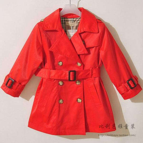 Burber style Girl's overcoat wholesale
