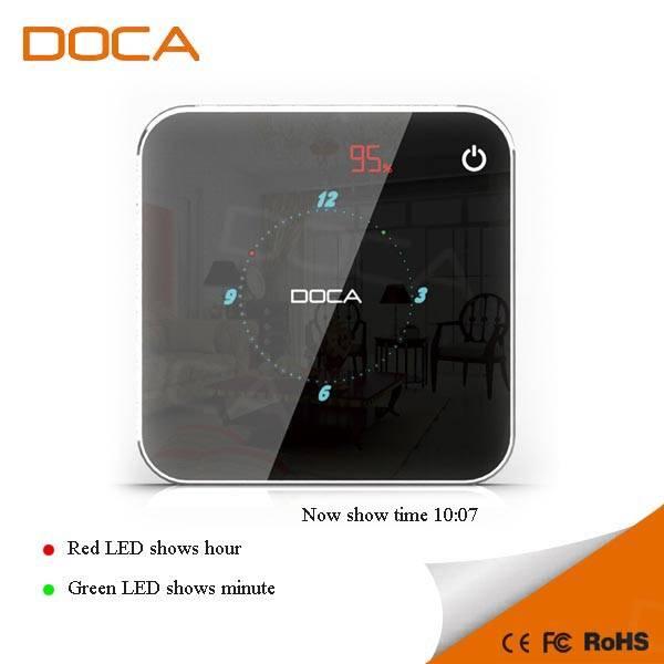 8400mAh dual USB external power bank with led electronic clock
