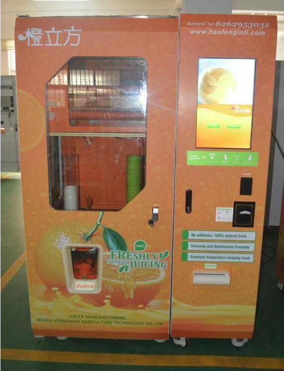 fresh fruit juice vending machine