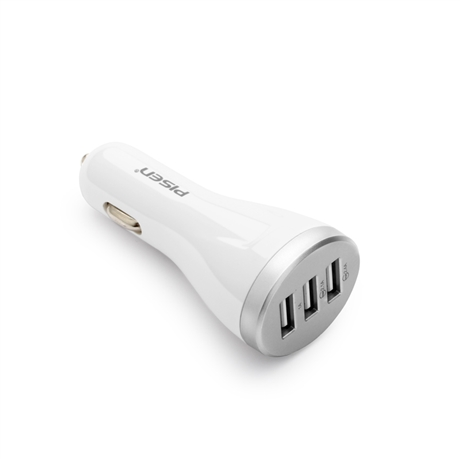 Pisen Universal Smart Fast Charing 3 USB Port Car Charger