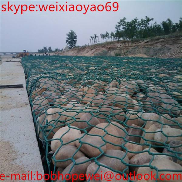 hexagonal gabion flood fighting net cage&stone cage& bird cage