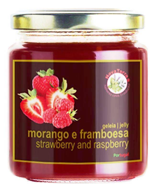 Strawberry and raspberry jelly