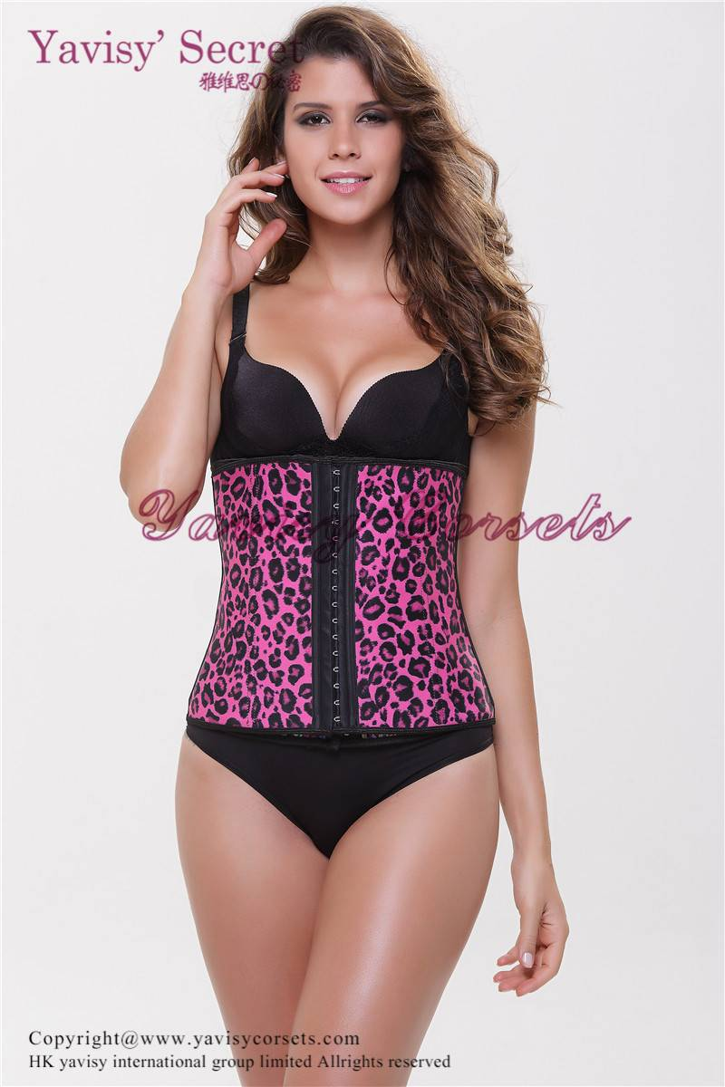 Fashion women leoprad print last waist trainer / cincher / gridle