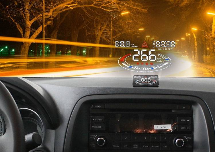 E300 5.5 Car Hud Head up Display Km/H&Mph Windshield 2D Vision Over Speeding Warning OBD2