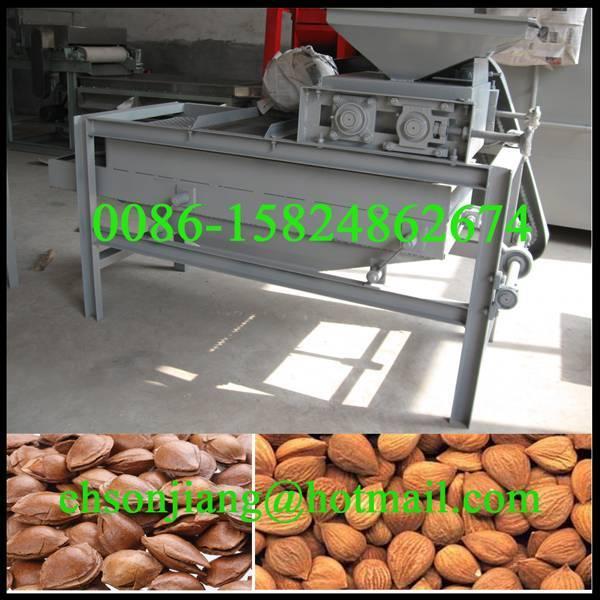 Nuts dehulling and separating/Hazelnut Shell Dehulling Machine/Apricot Shell Removing Machine