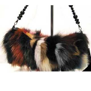Motley Fox Fur Handbag