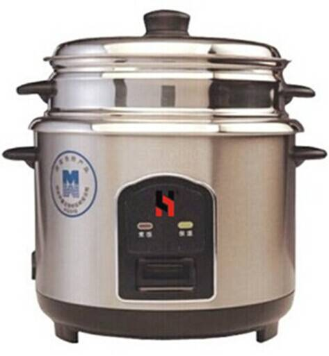 Jointless rice cooker in all stainless steel