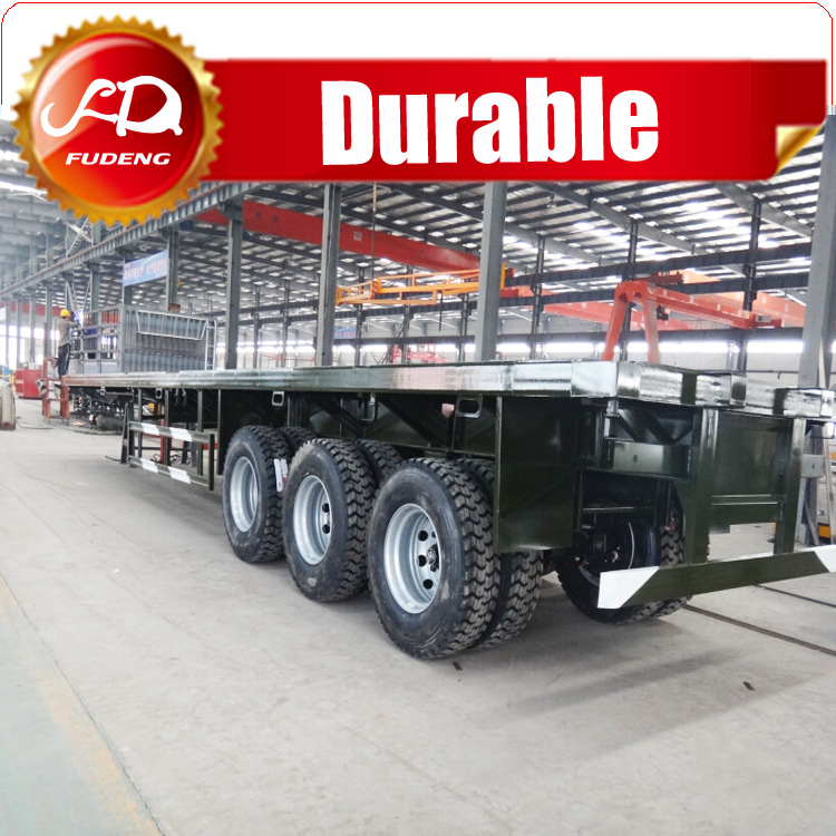 40FT Container transport 3 Axles Flat Bed Semi Trailer