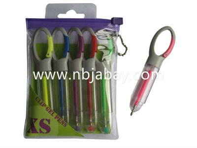 clip mini gel pen in pvc bag