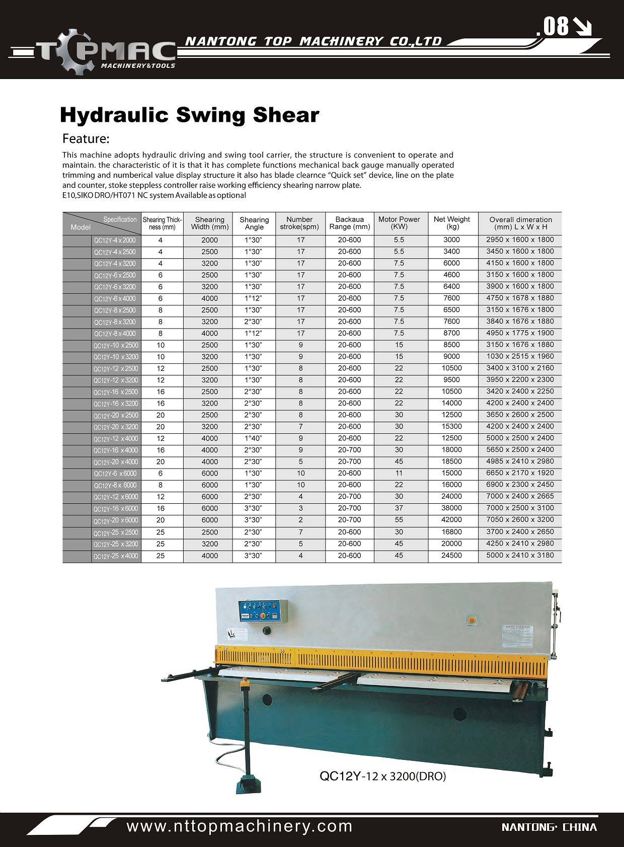Hydraulic Swing Machine