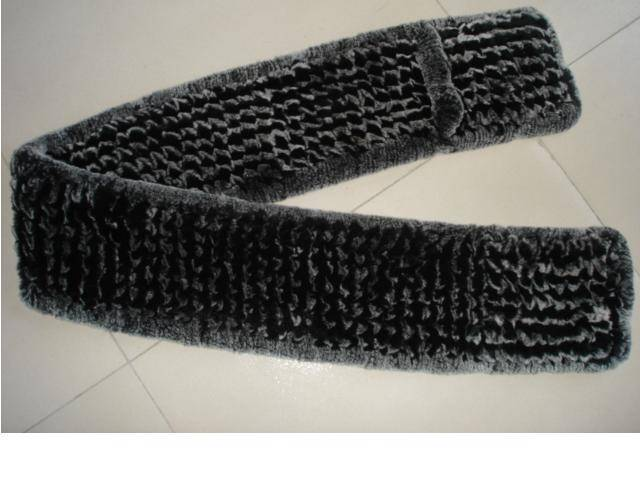 Knitted fur scarves and Shawl