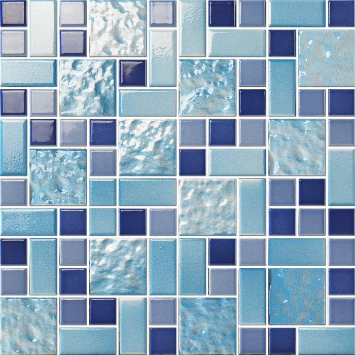 Mixed Porcelain glazed mosaic for swimming pool