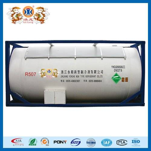 mixed refrigerant gas R507a for ISO-Tank