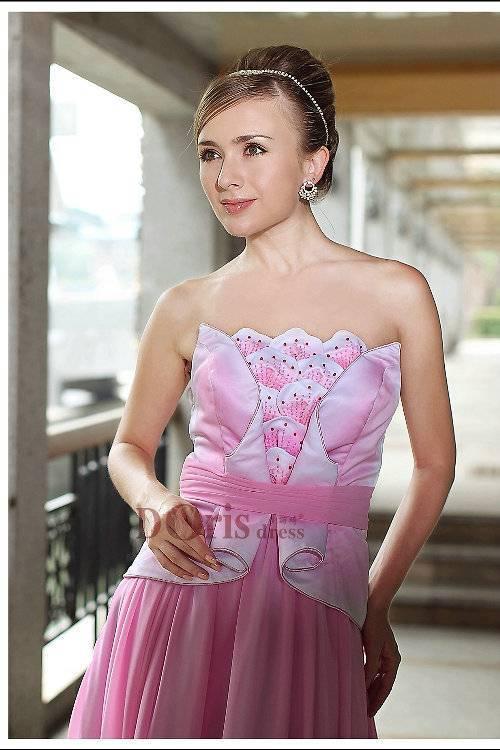 2014 elegant bridesmaid dress hot pink formal dress 30287
