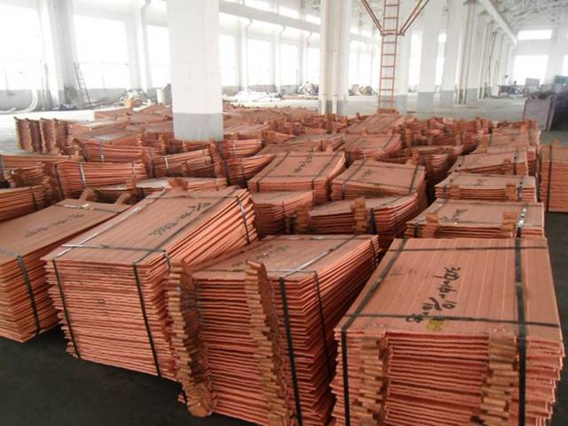 Copper cathodes 99.95% purity