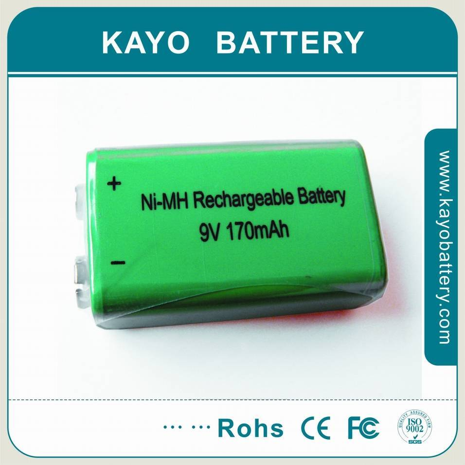 9V Ni-Mh rechargeable battery with high capacity