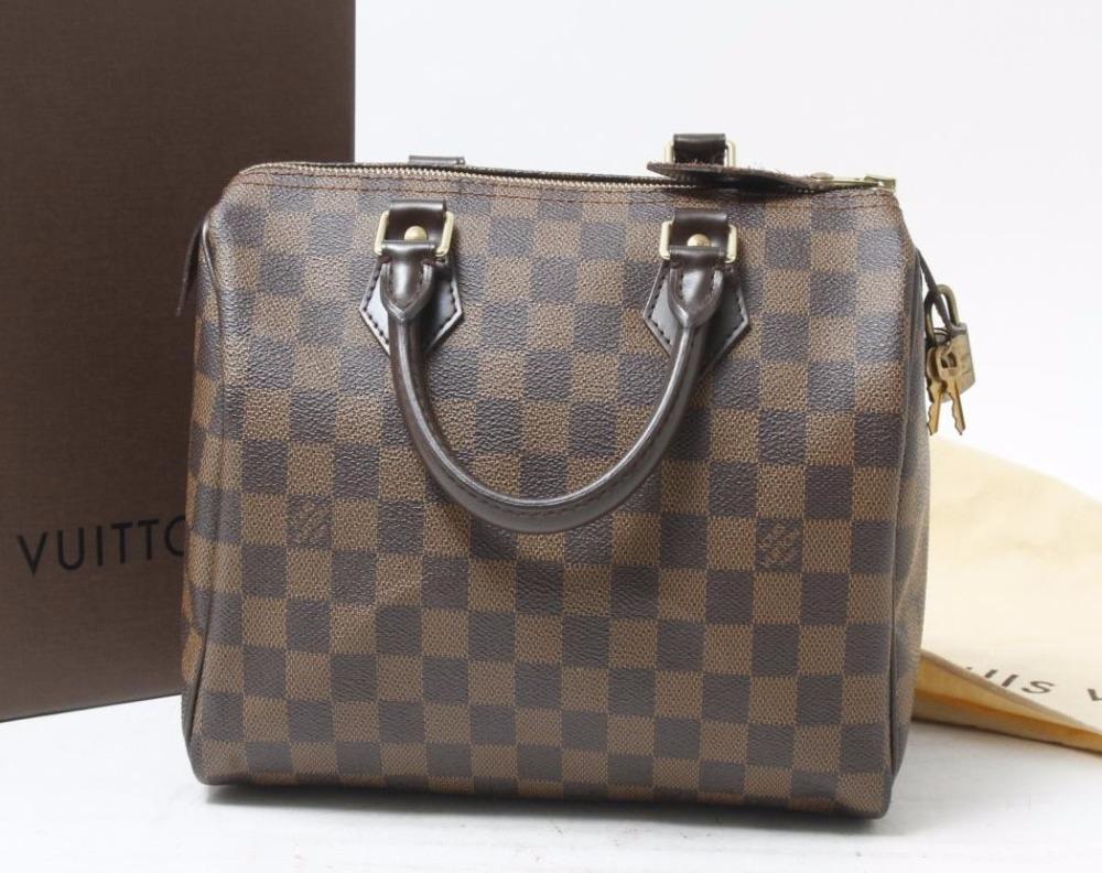 Used designer Brand Handbag LOUIS VUITTON M41532 Speedy 25 Damier Tote bags for Bulksale.