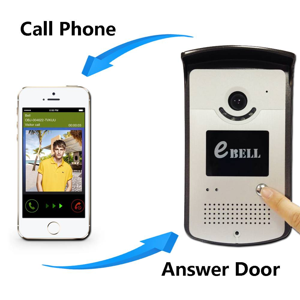 WiFi Video Door Phone Bell Wireless Intercom Support WiFi 3G Ios Android for iPad Smart Phone Tablet