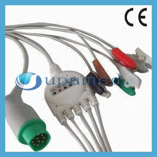 Siemens One piece 5 lead ECG cable with leadwires