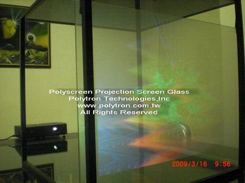 Polyscreen_transparent projection screen