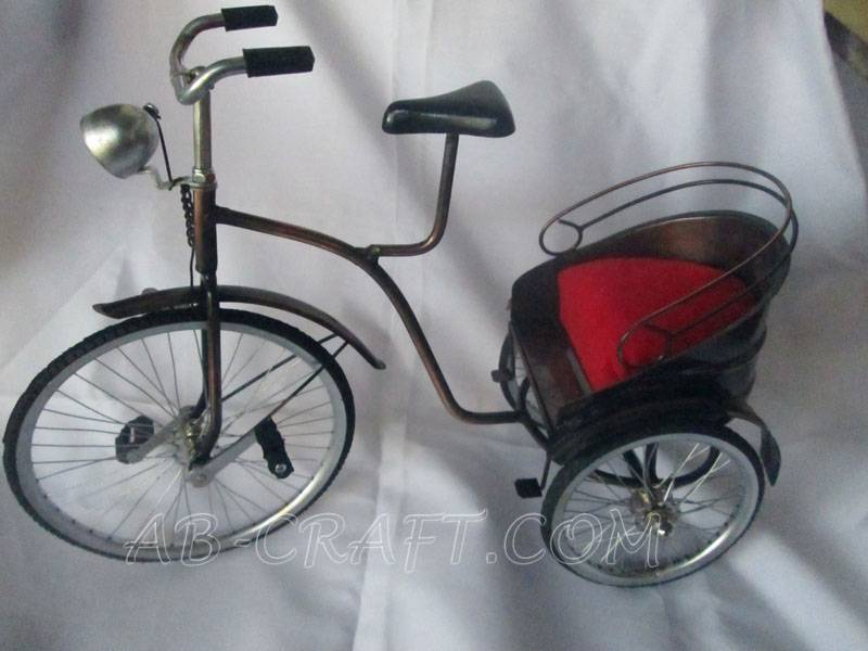 Bicycle Pedicab Mandarin OF COPPER IRON BRASS