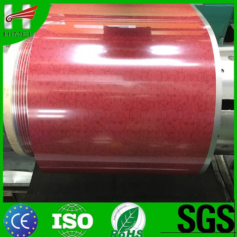 Sell red high gloss pvc film laminate steel sheet