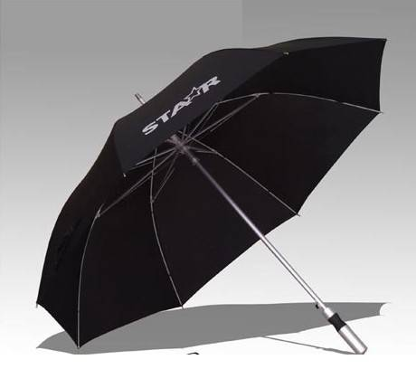 23x8K Straight Auto Fiberglass Windproof Advertising Umbrella Gift Umbrella