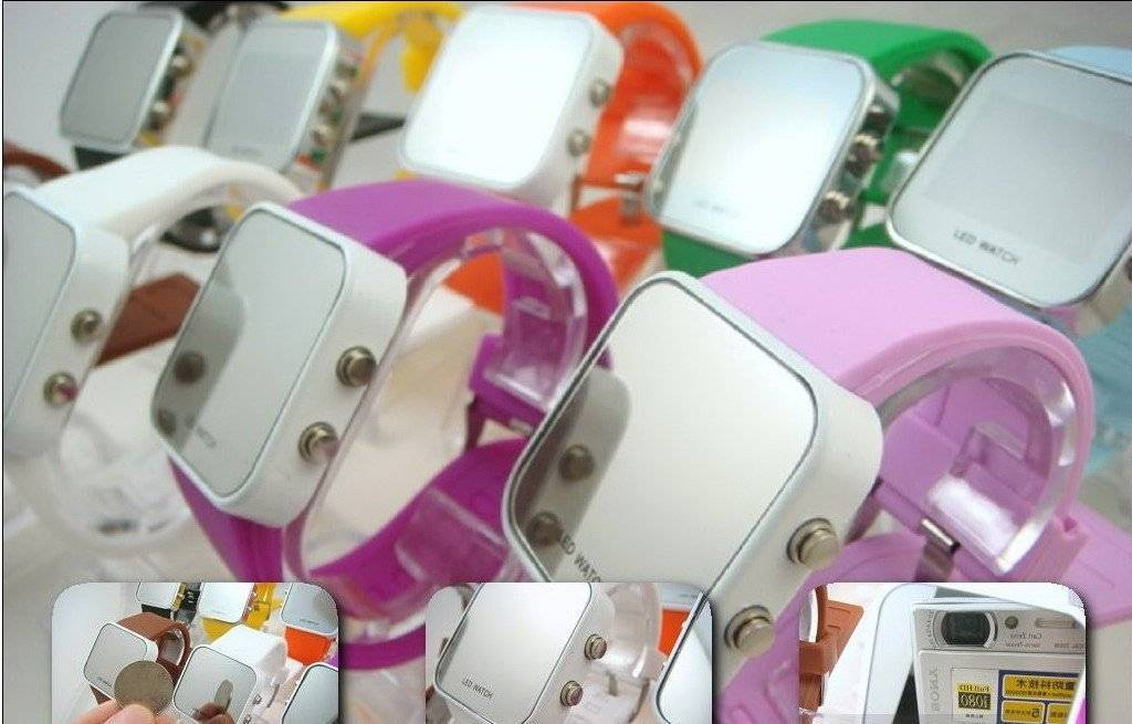 Fashion silicon LED watch