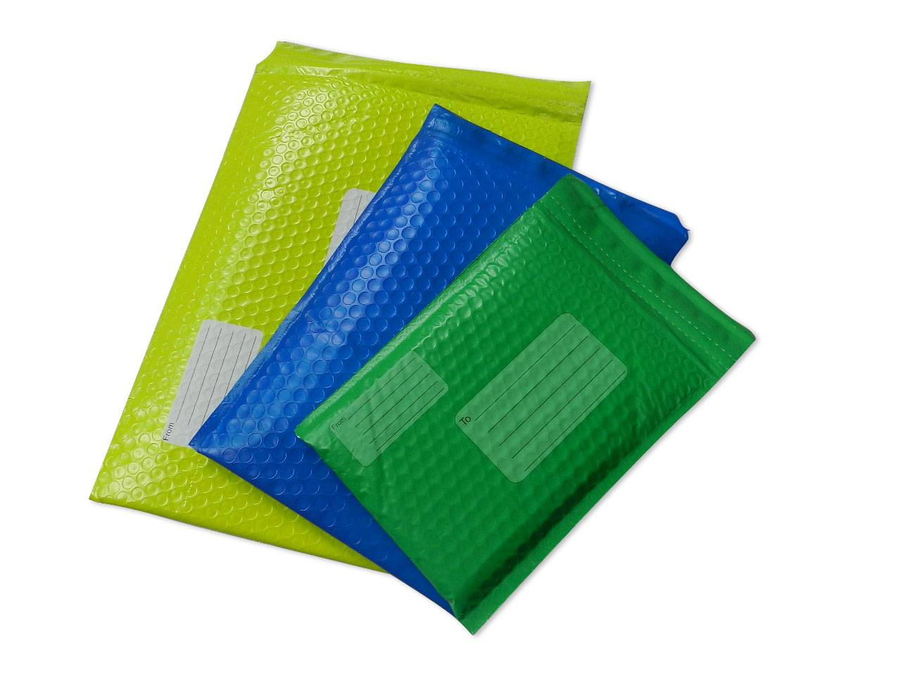 Co-extruded poly bubble envelope/mailer