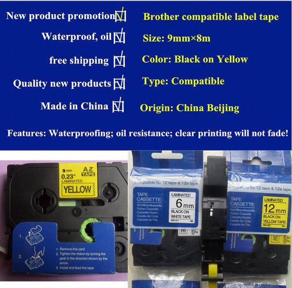 high quality Mixed TZe-621 TZ-631 Compatible Label Tape AZ2-621 For P Touch Printer