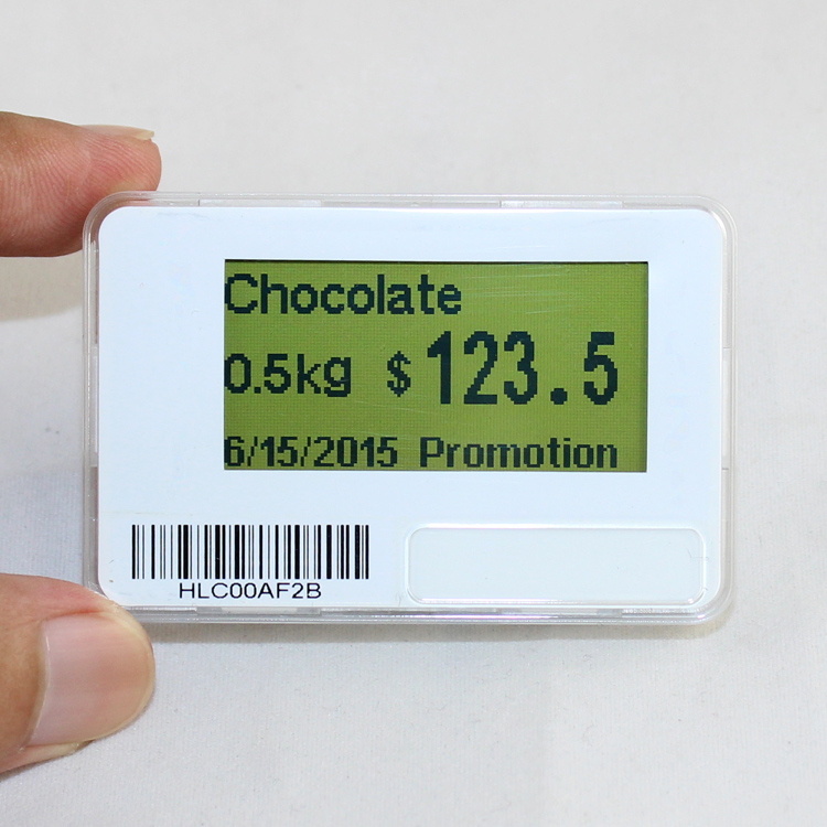 "1.8"" Supermarket Low Temperature Electronic Shelf Label Price Tag"