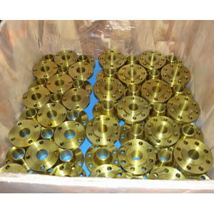 ASTM A105 Golden Weld Neck Flanges, Golden Painting, SCH STD, 150 LB