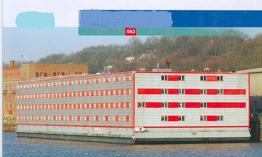 Floating hotel 553 persons to Charter, 2001, Ref C4919