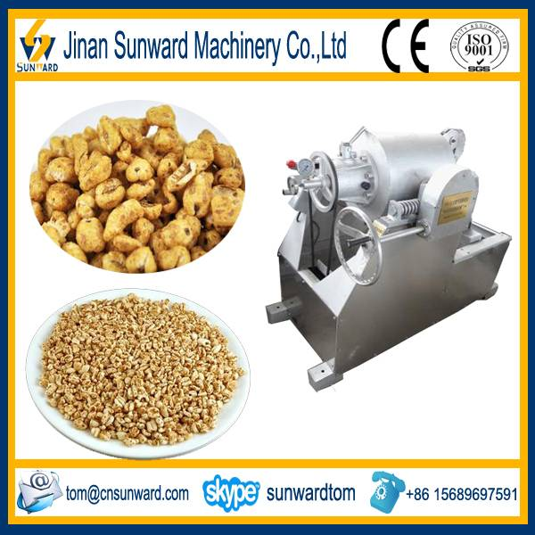 Small scale puffed rice making machine