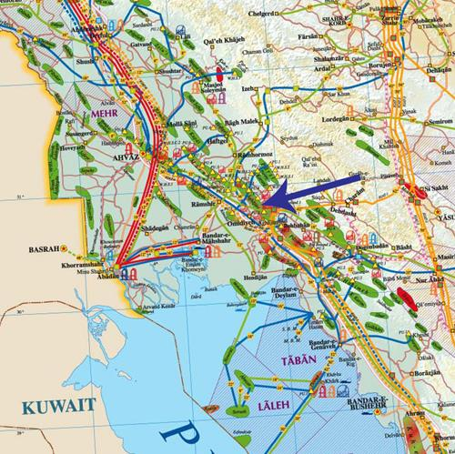 all oil, Gas and petrochemical products by Iran region.