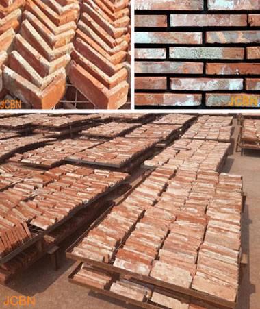 Old Red Brick Slices, Historical Brick, Antique Brick, Corner Brick.