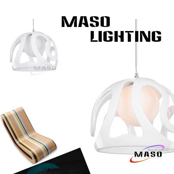 Helmet Shape Round Ball Resin Pendant Bar Lighting Application LED Bulb Source MS-P1006