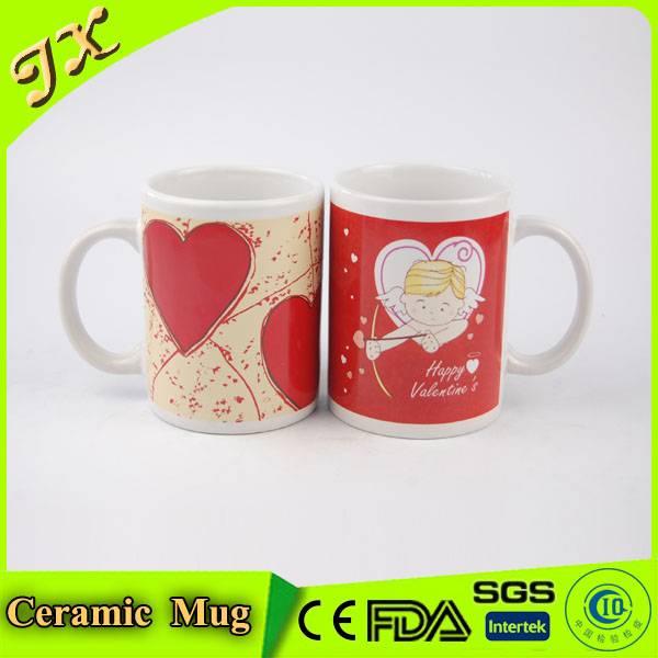 Eco-friendly decal custom ceramic coffee cup