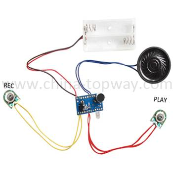 Voice recording module for toy