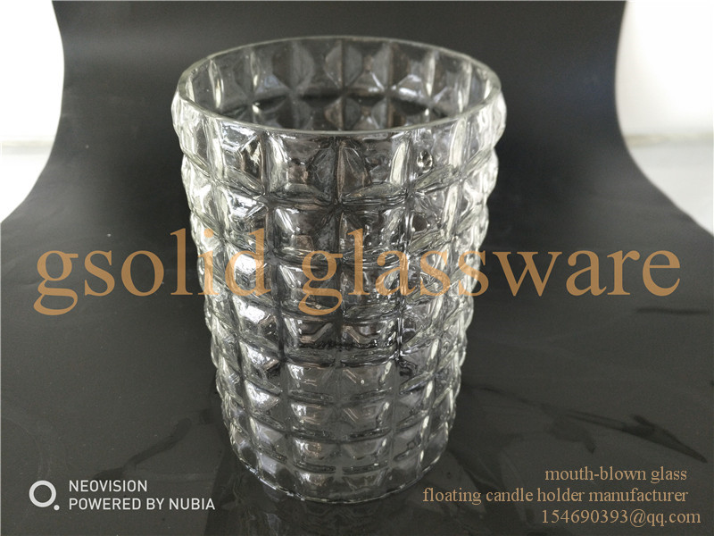 mouth blowed mouth blown handmade glass floating candle holder cup bowl
