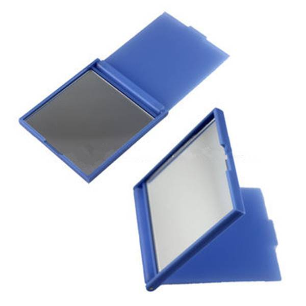Cheap single side pocket mirror with cover for promotion, small size 9.57.60.6cm, made in China