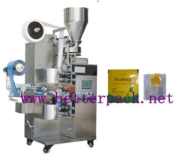 Auto tea bags packaging machine with inner and outer envelope